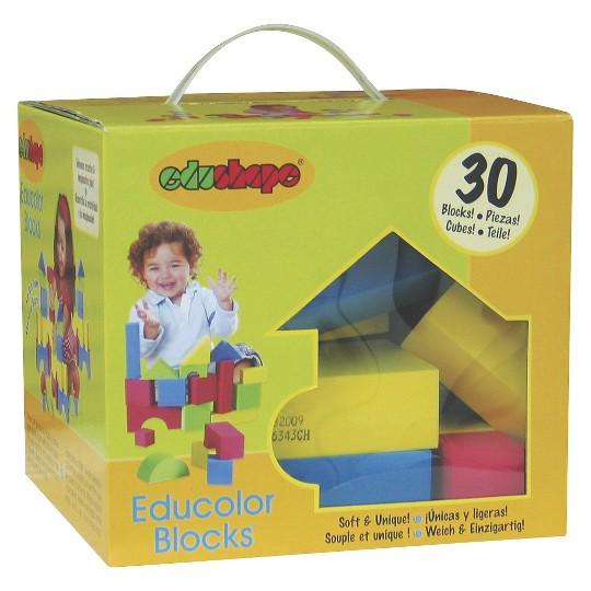 Edushape Edu-Color - 30 pc Firm Foam Blocks image number null