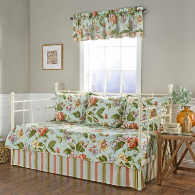 5pc Floral Stripe Laurel Springs Daybed Set - Waverly
