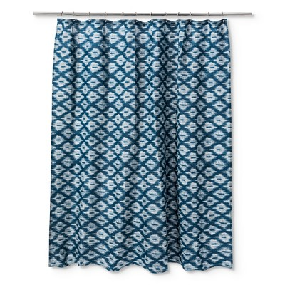 Ikat Textured Shower Curtain Galazy Blue - Threshold™
