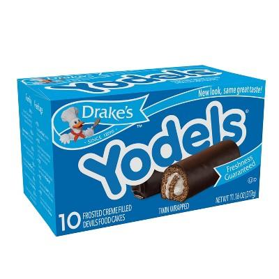 Drake Yodels Frosted Creme Filled Devil's Food Cakes - 10ct/11oz