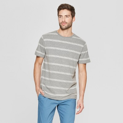 797250a35f718 Men s Striped Regular Fit Short Sleeve Novelty Crew T-Shirt - Goodfellow    Co™