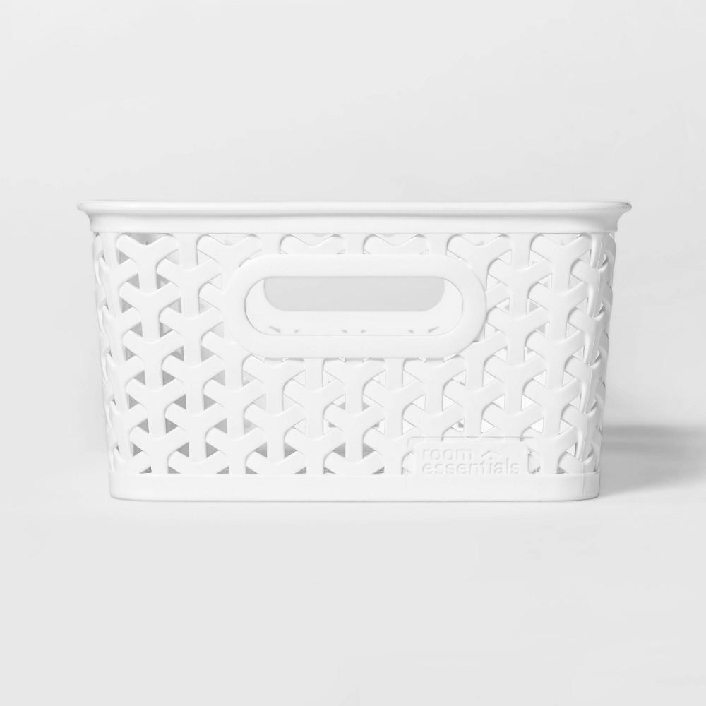Y Weave Small Decorative Storage Basket White Room Essentials 8482