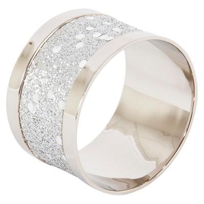 Sparkling Design Napkins Rings - Silver (Set of 4)