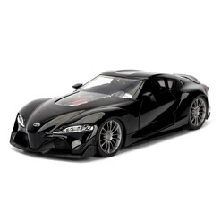 Jada Toys JDM Tuners Toyota FT-1 Concept Die-Cast Vehicle 1:24 Scale Glossy Black