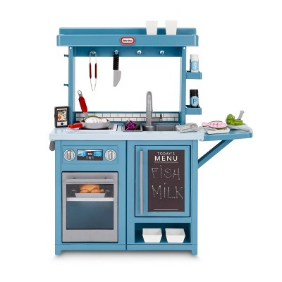 Little Tikes First Prep Kitchen Realistic Pretend Play Kitchen with Over 25 Accessories