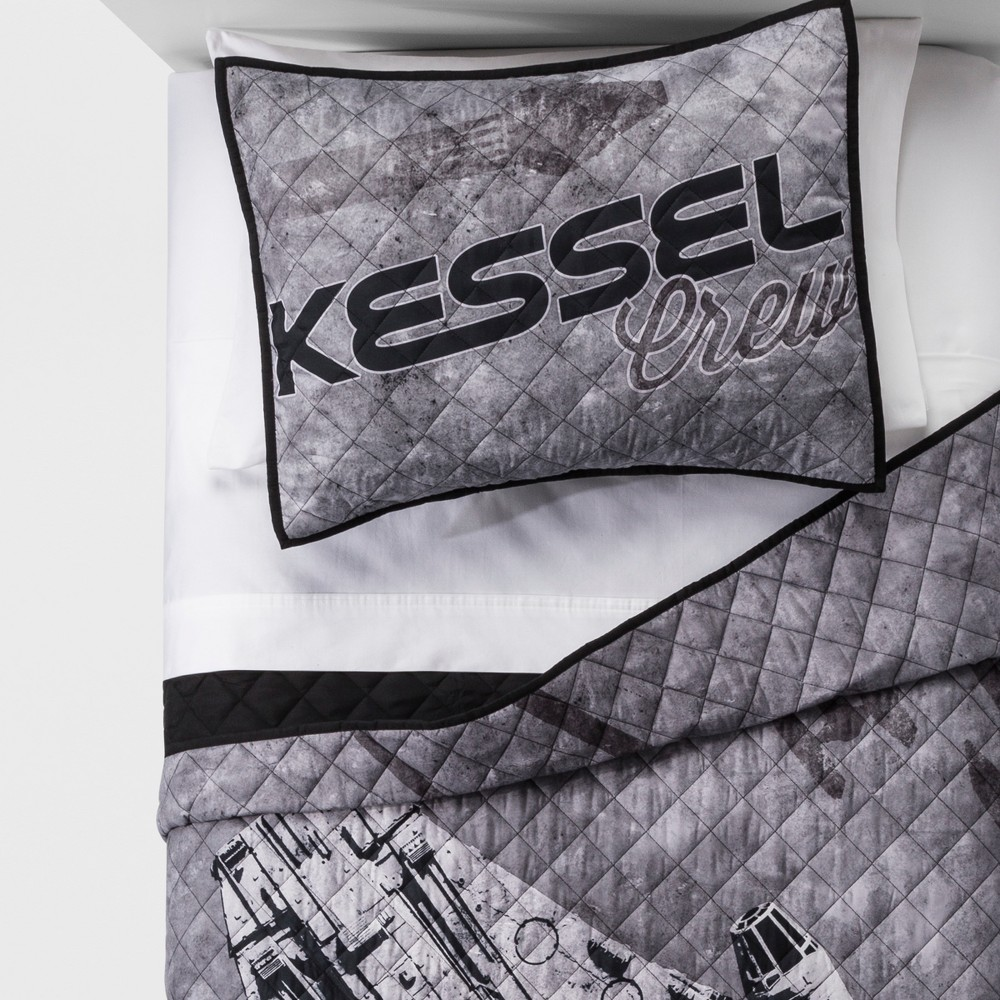 Solo: A Star Wars Story Full/Queen Kessel Crew Quilt Set Gray
