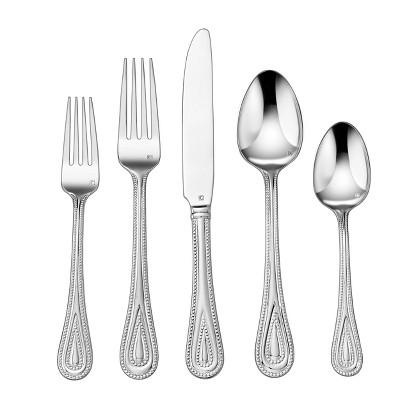 Cuisinart 20pc Stainless Steel Fampoux Silverware Set