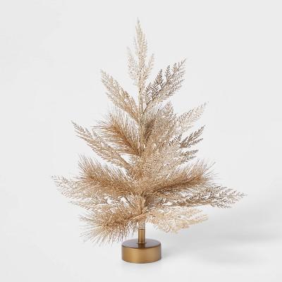 1.5ft Unlit Gold Glitter Artificial Christmas Tree - Wondershop™
