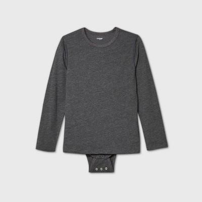 Boys' Adaptive Long Sleeve Adjustable Bodysuit - Cat & Jack™ Gray