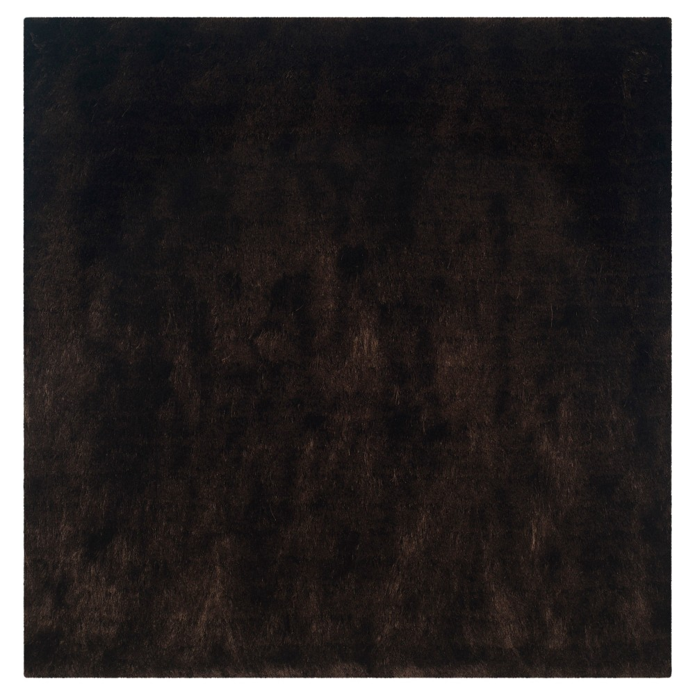 Chocolate (Brown) Solid Loomed Square Area Rug - (7'X7') - Safavieh