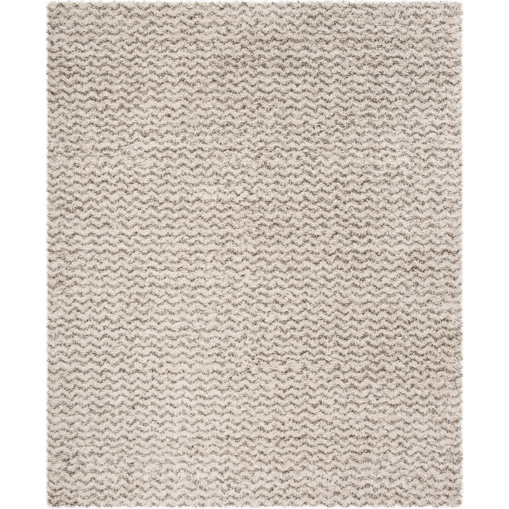 9'X12' Solid Loomed Area Rug Ivory/Gray - Safavieh, White