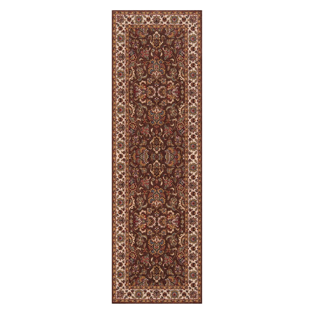 2'6X8' Floral Loomed Runner Cocoa (Brown) - Momeni