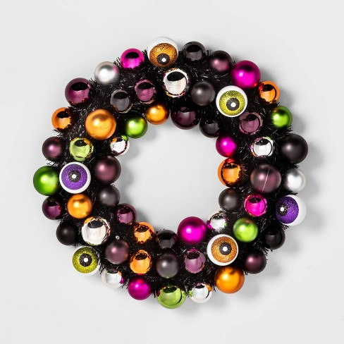 Light-Up LED Eyeball Halloween Decorative Wreath - Hyde & EEK! Boutique™ - image 1 of 2