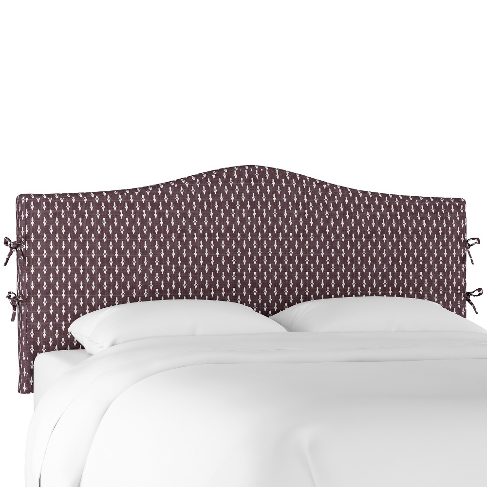 King Lindsey Slipcover Headboard Plum Floral - Cloth & Co.