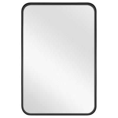 "24"" x 36"" Rectangular Decorative Mirror with Rounded Corners Black - Threshold™ designed with Studio McGee"