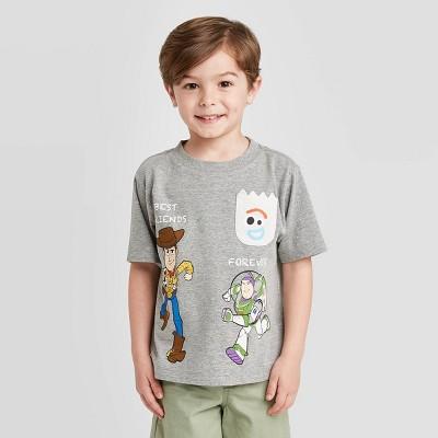 Toddler Boys' Disney Toy Story Forky Pocket Graphic T-Shirt - Gray 12M