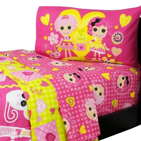Twin Bedding Set Gingham Hearts Comforter Sheets Lalaloopsy Target