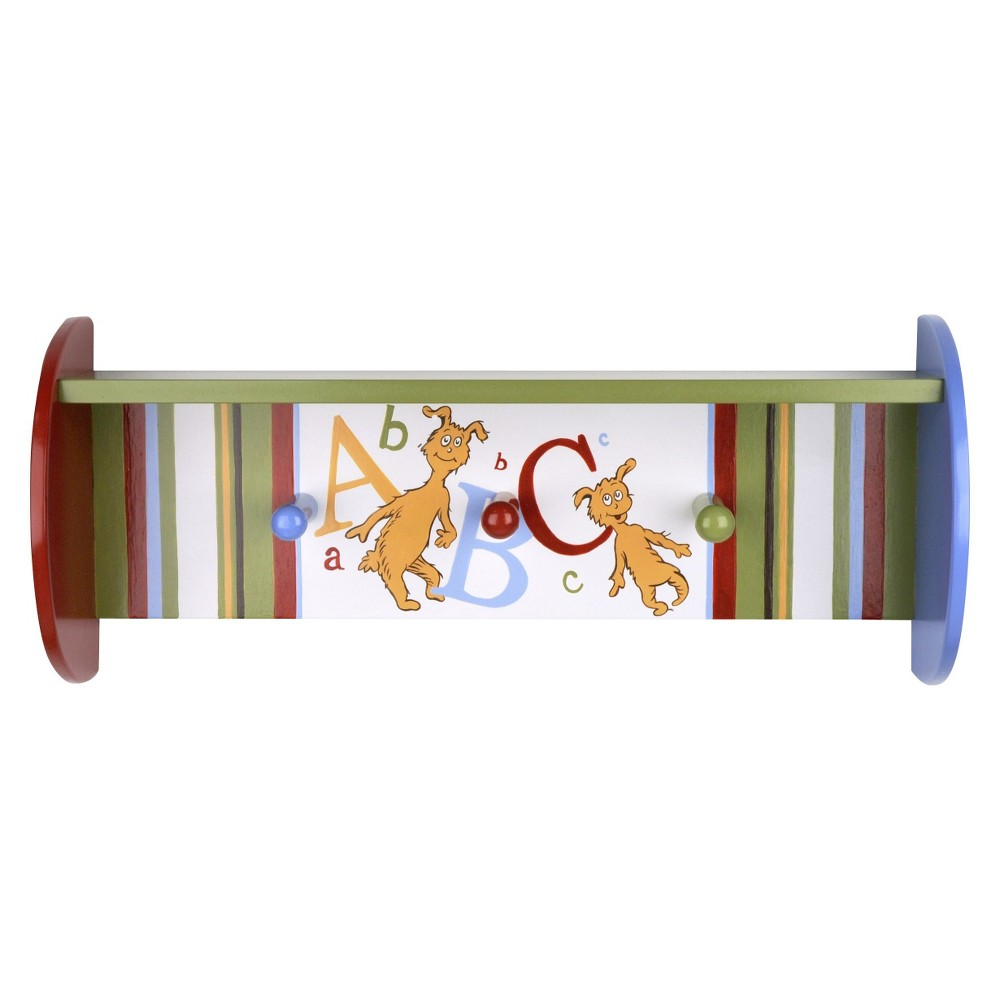 Image of Trend Lab Dr Seuss ABC shelf with pegs