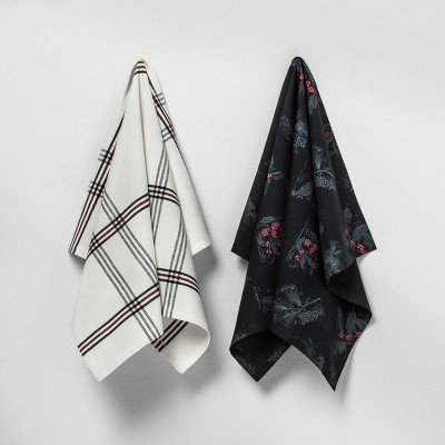 2pk Kitchen Towel Plaid / Berry - Hearth & Hand™ with Magnolia