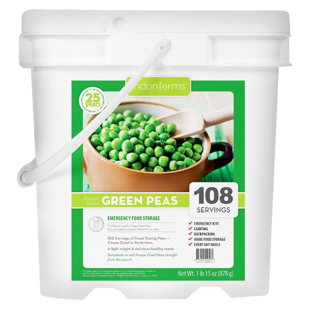 Lindon Farms Emergency Food 108-Serving Freeze Dried Green Peas Food Storage Pail