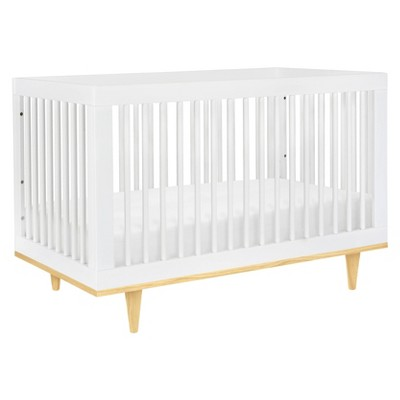Baby Mod Marley 3-in-1 Convertible Crib - White and Natural