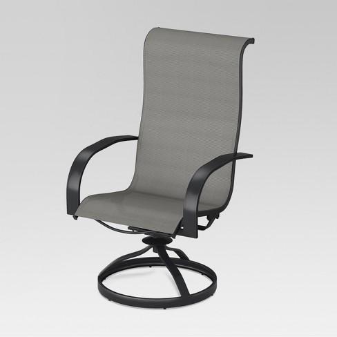 Camden 4pk Metal Sling Swivel Rocker Patio Dining Chair Gray Threshold Target