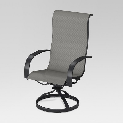 Charmant Camden 4pk Metal Sling Swivel Rocker Patio Dining Chair Gray   Threshold™