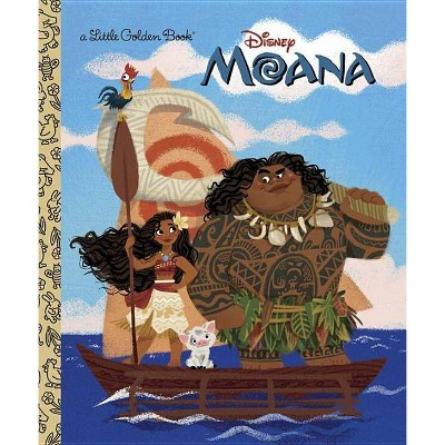 Moana Little Golden Book - by Andrea Posner-Sanchez (Hardcover)