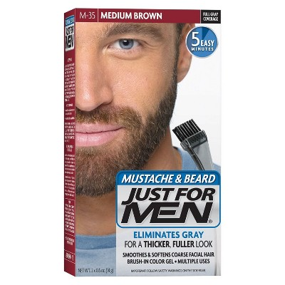 Just For Men Mustache and Beard Men's Hair Color, Medium Brown M-35