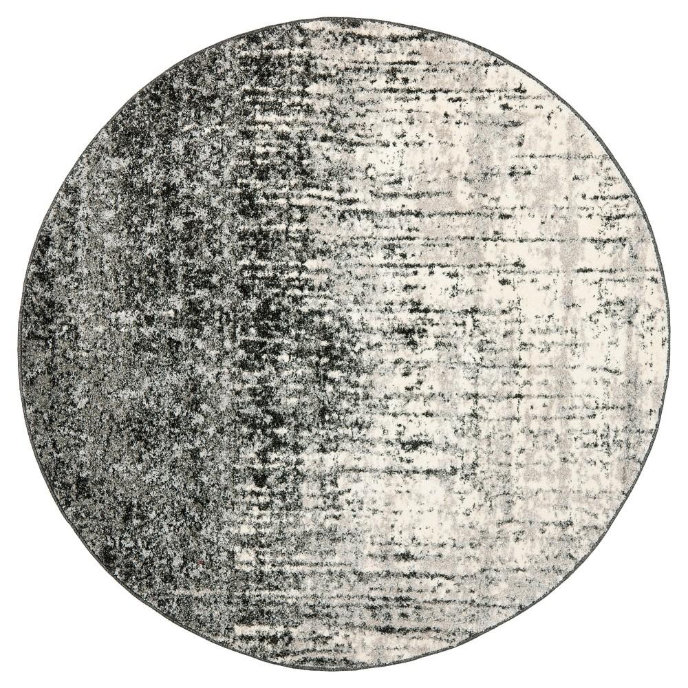 Jayden Area Rug - Black / Gray (8' Round) - Safavieh