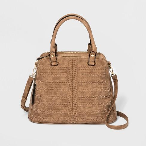 ab9ec46b20ed VR NYC Woven Triple Satchel Handbag - Cognac   Target