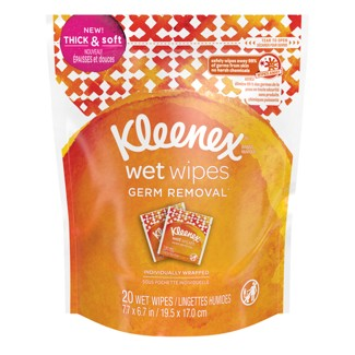 Kleenex Germ Removal Wet Wipes - 20ct