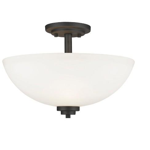 """Z-Lite 443SF Ashton 3 Light 16"""" Wide Semi-Flush Mount Ceiling Fixture - image 1 of 1"""