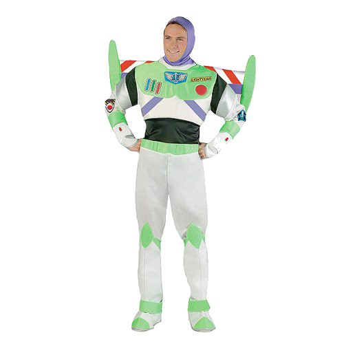 Halloween Men's Toy Story Buzz Lightyear Costume One Size, Green/Purple/White