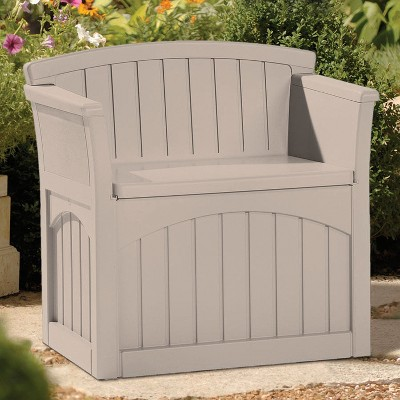 Resin Patio Storage Seat 31 Gallon - Taupe - Suncast, Brown