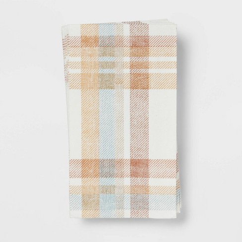 16ct Paper Plaid Disposable Napkins - Threshold™ - image 1 of 3