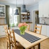 Kate Aurora Country Farmhouse Living Reversible Buffalo Plaid/Solid Table Runners - image 2 of 4