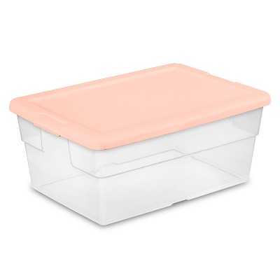 16qt Sweater Box 2pk with Feather Peach Lid - Room Essentials™