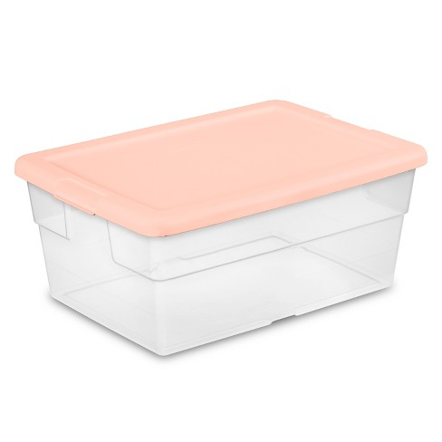 Awesome 16Qt Sweater Box 2Pk With Feather Peach Lid Room Essentials Uwap Interior Chair Design Uwaporg