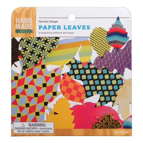 Printed Paper Leaf Set 60ct - Hand Made Modern - image 1 of 3
