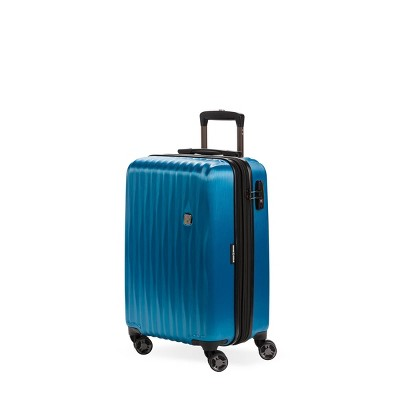 SWISSGEAR 20  Energie USB Port Hardside Carry On Suitcase - Ocean Blue