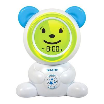 Children Ok To Wake Bear Table Clock White - Sharp