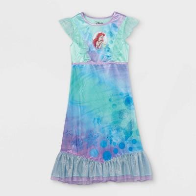 Girls' Little Mermaid Pajama Nightgown - Blue