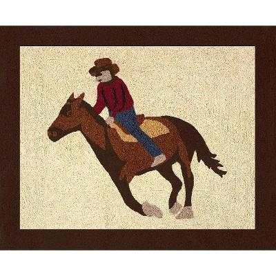 Sweet Jojo Designs Wild West Cowboy Accent Floor Rug - Chocolate