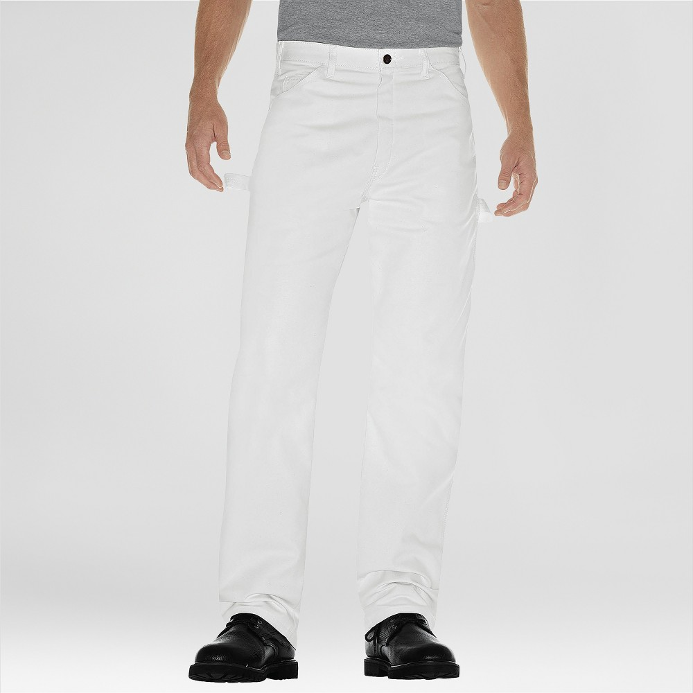 Dickies Men's Relaxed Straight Fit Trousers - White 38x30