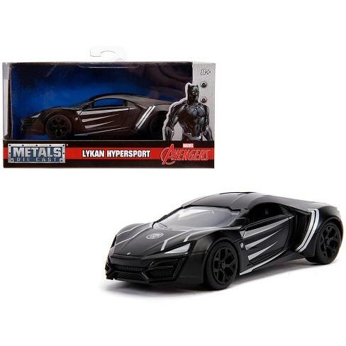 "Lykan Hypersport ""Black Panther"" Theme ""Marvel"" Series 1/32 Diecast Model Car by Jada - image 1 of 4"