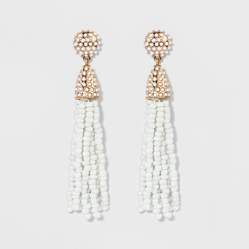 SUGARFIX by BaubleBar Beaded Tassel Earrings - image 1 of 3