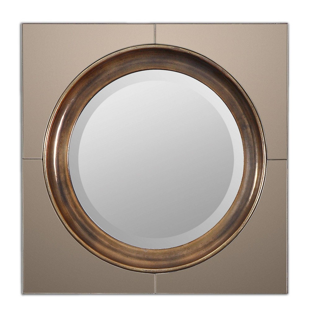 Image of Round Gouveia Contemporary Mirror - Uttermost