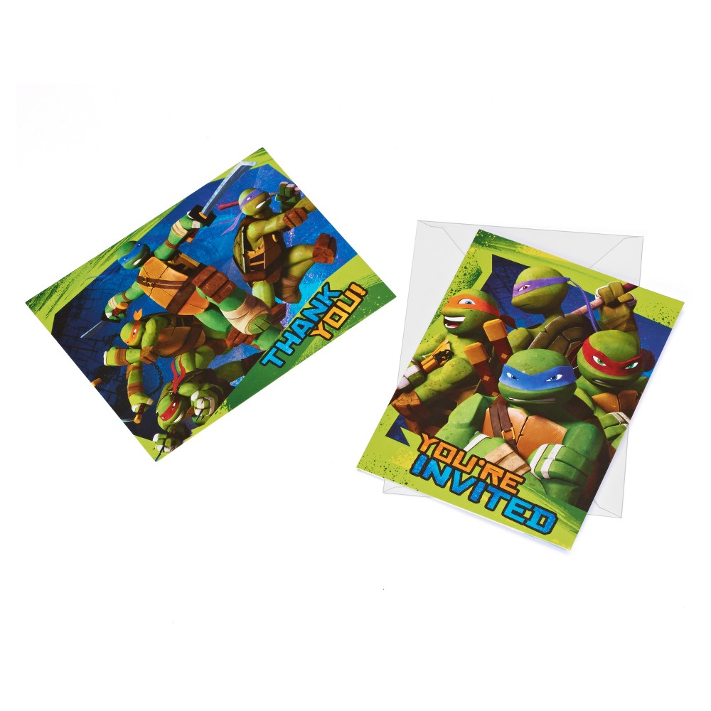 8ct Teenage Mutant Ninja Turtles Invite And Thank-You Combo Pack