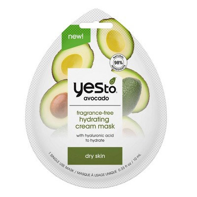Yes to Avocado Cream Mask - Unscented - 0.33 fl oz